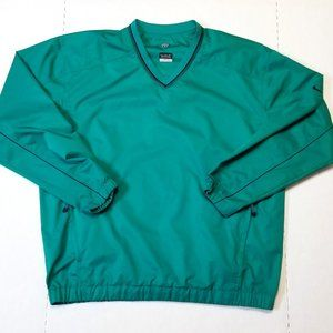 Nike Golf Large Green V-neck Pullover Clima-fit